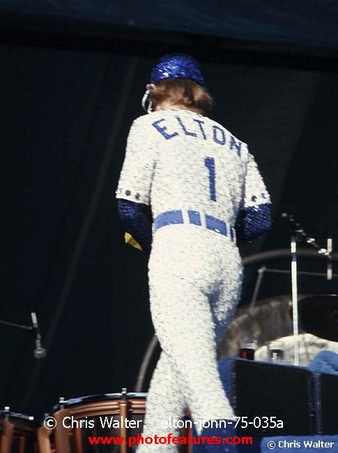 Elton John Stadium Elton John 1975 at Dodger