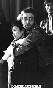 John Lennon and Yoko One in 1969 at Top Of The Pops